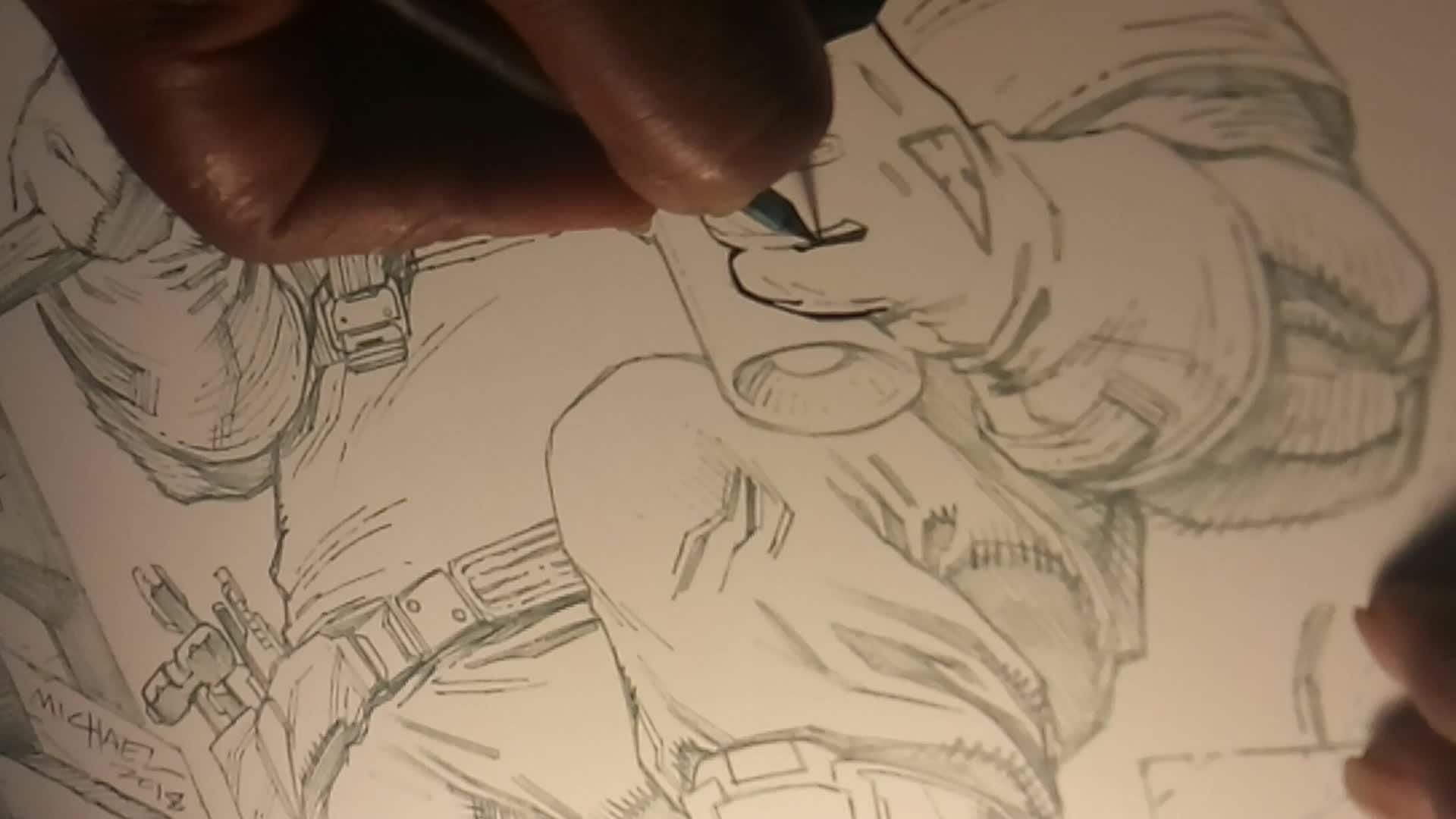 Rogue Universe: Discussion - Behind the Scenes - Inking one of our characters video cover image 1