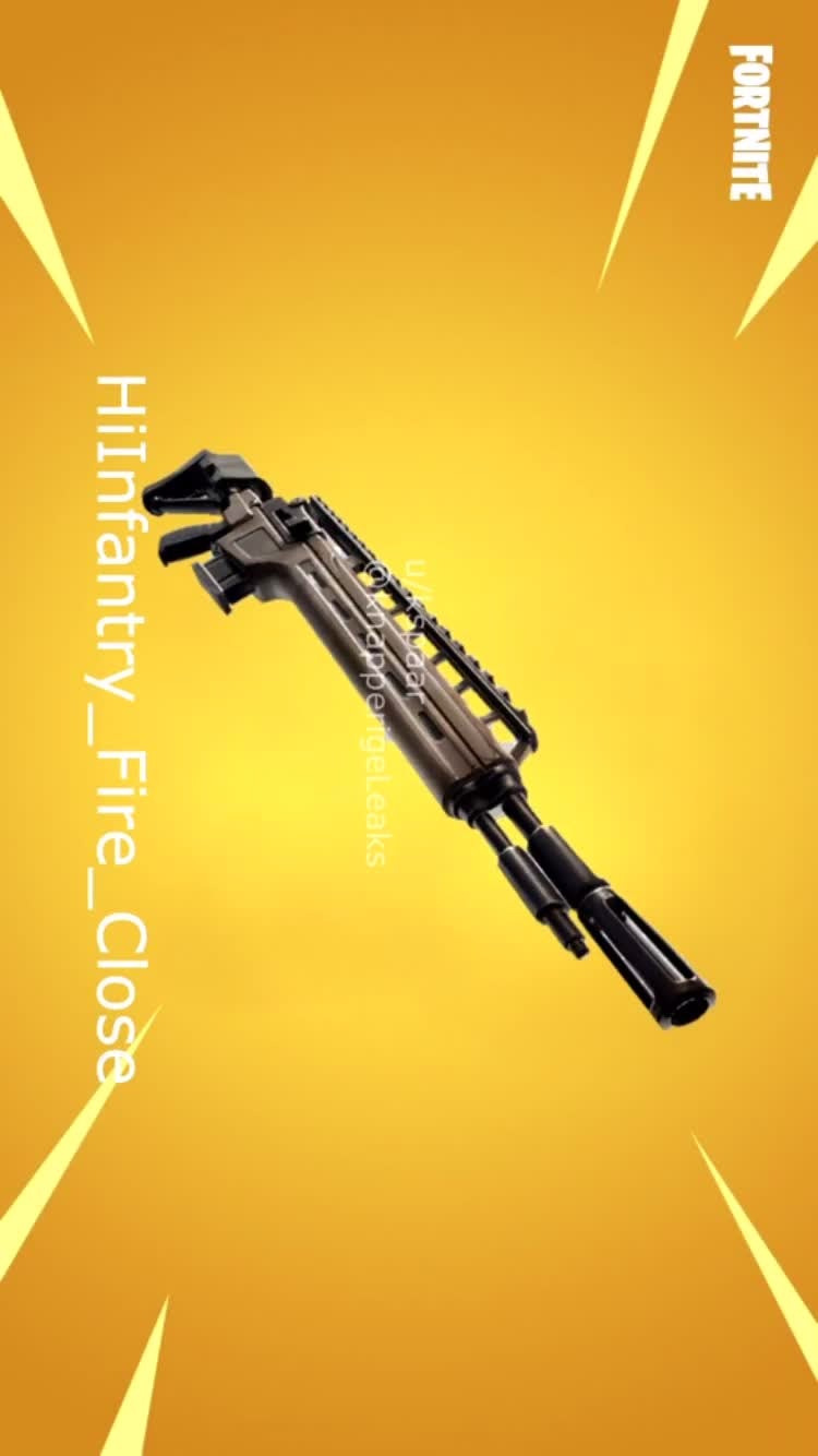 Fortnite: Battle Royale - Leaked Sounds + Stats Of The Legendary And Epic Infantry Rifle  video cover image 1