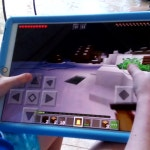 My little brother trying to make a you tube videos of Minecraft me secretly filming while practice