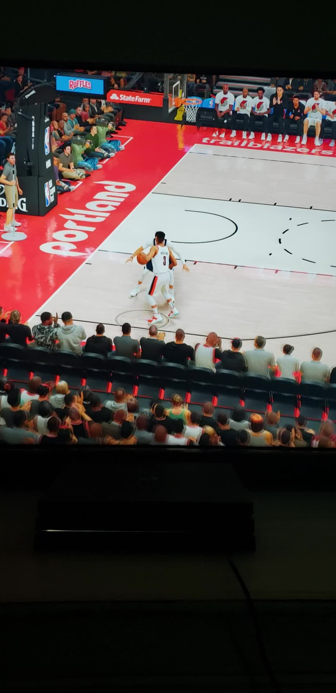 NBA 2K: General - 😁 What do you think my 3pt shot is on? I'm 97 overall, 6'10 Rim Protector...🤔 video cover image 0