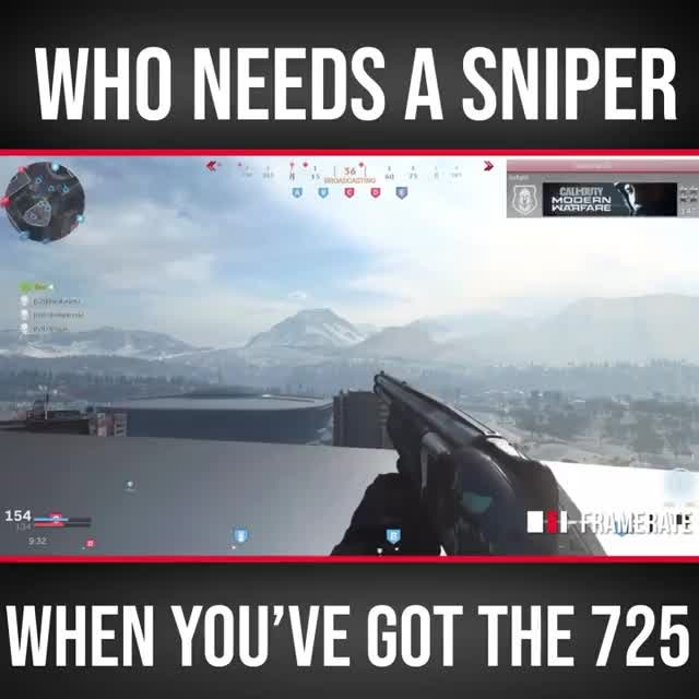 Call of Duty: Memes - Who needs a sniper when you've got the 725? video cover image 0
