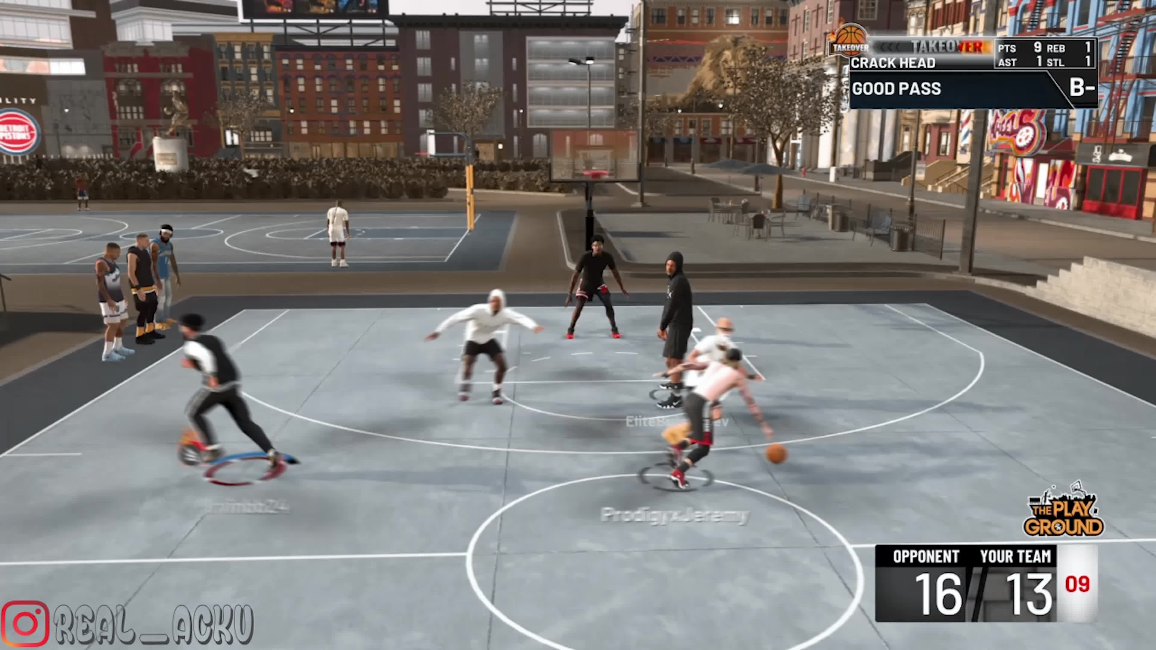 NBA 2K: MyCareer - I posterized this dude twice, but i missed the first one, sadly. man was dead on the floor. video cover image 0