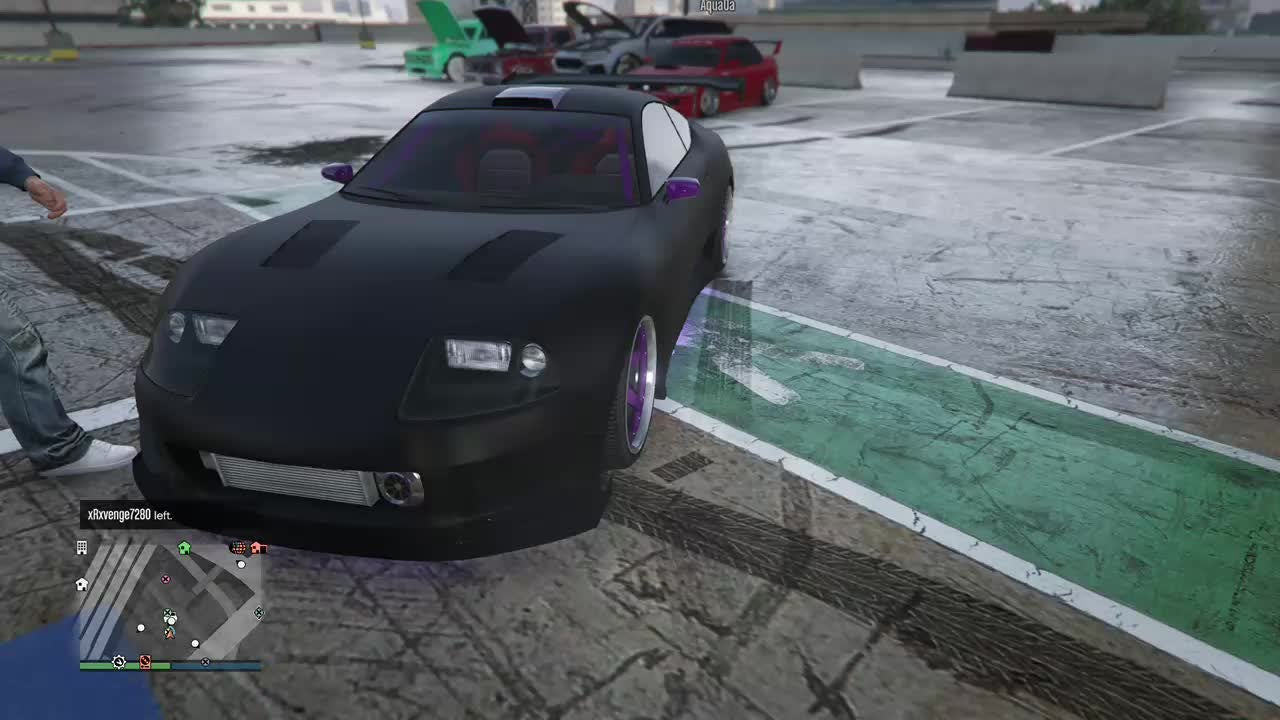 GTA: General - I hosted a car meet with my friend and well some guy tried to stance his car and... video cover image 0