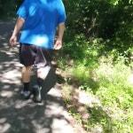 Beggining of 3 mile walk