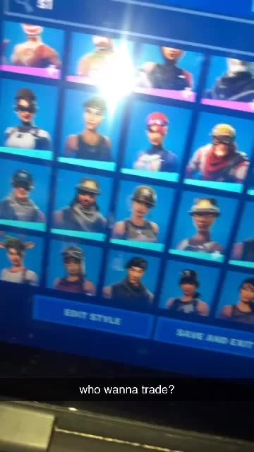 Fortnite: Battle Royale - Every rare skin in the game looking for a ikonik and galaxy acc and wonder looking for a acc trade?? video cover image 0