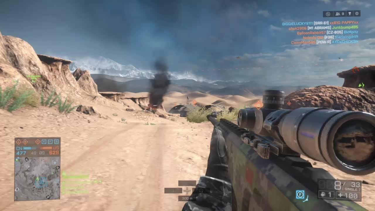 Battlefield: General - Long Range Moving Sniper Kill (BF4) video cover image 0