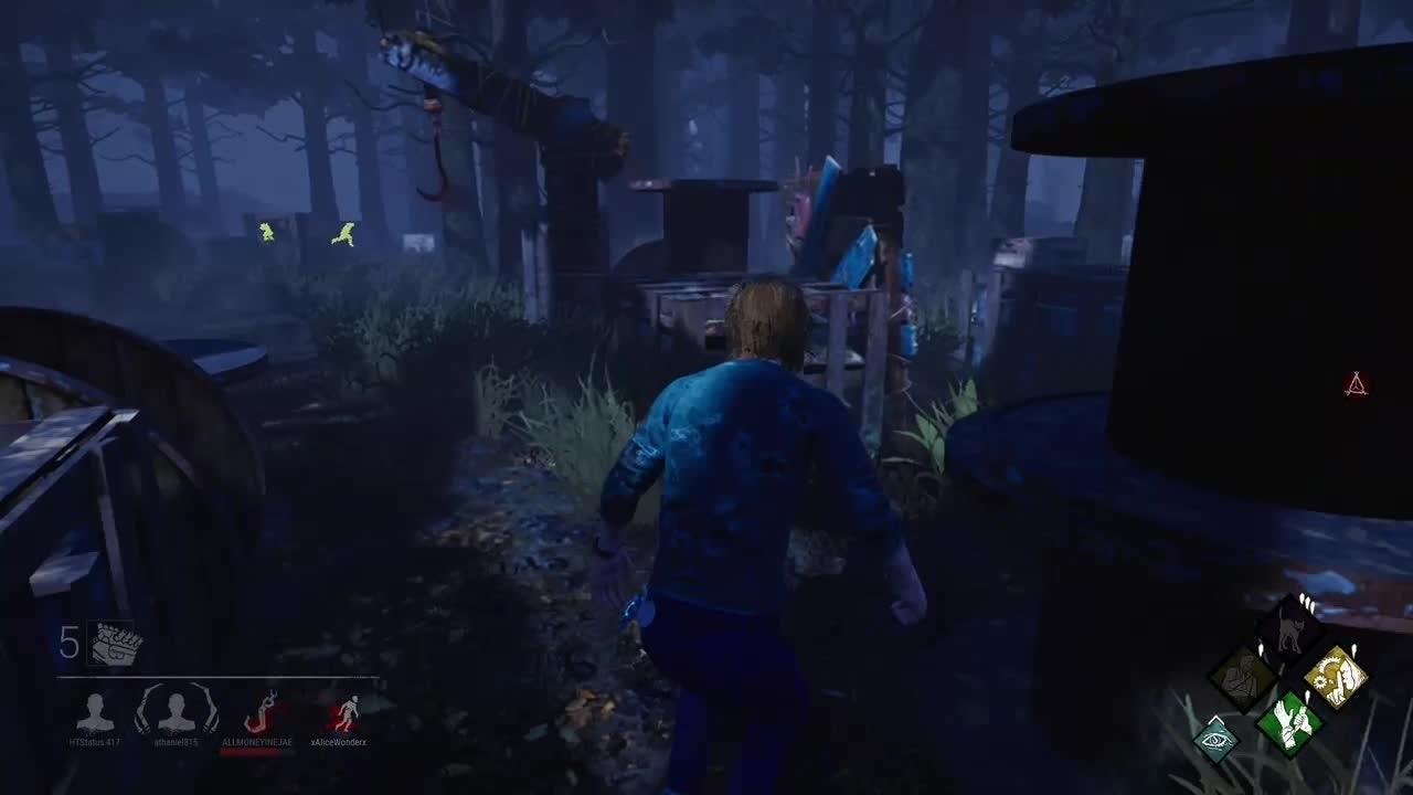 Dead by Daylight: General - Well, that was close, thanks Rank 5 killer for being blind. video cover image 0