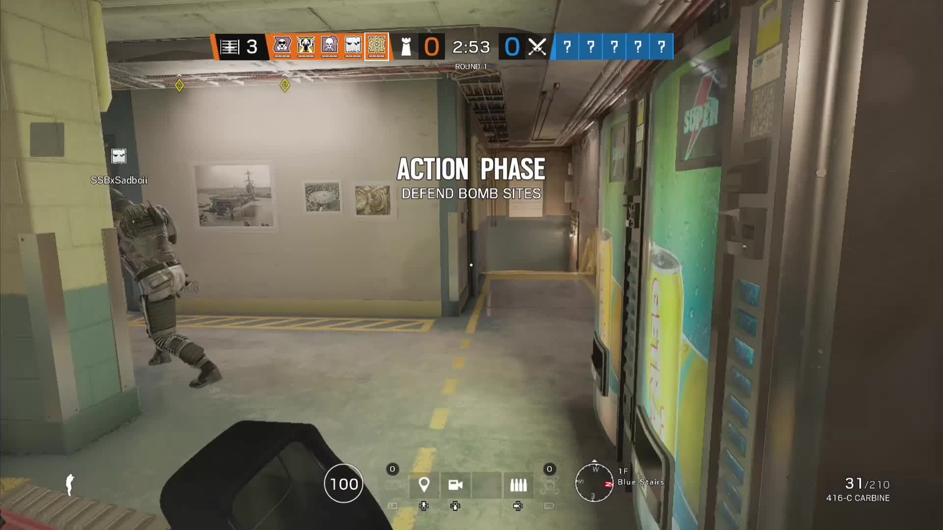 Rainbow Six: General - Spawn peek double on to thatcher and therm😂😂 video cover image 1