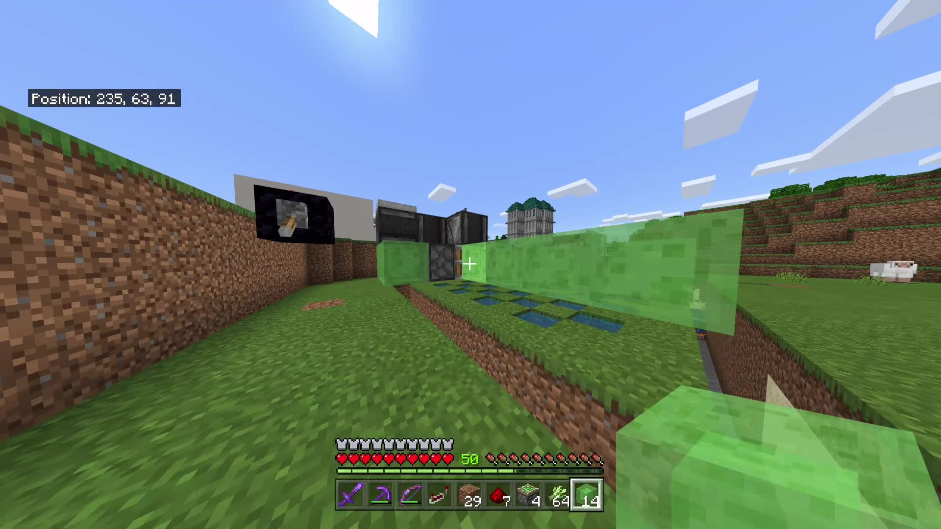 Minecraft: Memes - Me failing to make a flying machine for industrial redstone sugar cane farm: video cover image 1