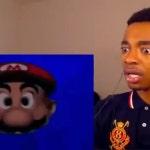 pov: Floating Mario head breaks through your phone screen