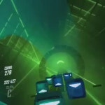 Just a clip of 'ghost' from beat saber played at %145 speed (played with no fail)